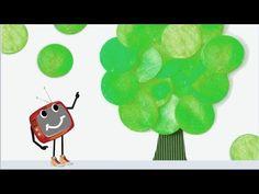 Деревце из зелёных кружочков. Развивайка.