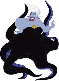 """The villain Ursula """"The Little Mermaid"""" is similar to Shylock in the fact that both characters can be considered either the villain or victim. Ursula is a villainous character because she strives to bring down the powerful King Triton (Antonio) through revenge, and yet she is also the victim of prejudice since King Triton banished her from the kingdom."""