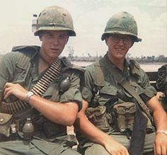 Gary Maibach on the right, Vietnam 1967 medic 9th Inf Div.