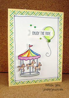 Lawn Fawn - Admit One, Pink Lemonade paper _ Love My Scraps: Let's Color!