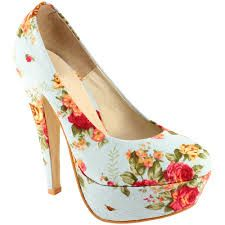 Flower platform heels