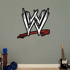 WWE Logo Fathead Wall Decal - I would let Josh pick out his own Fathead for  his walls, but I guess this would be a good one to start