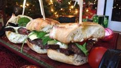 Wow your guests over the holidays with these Steak and Brie Sliders. Tender filet mignon is sliced very thinly, piled onto toasted baguettes...