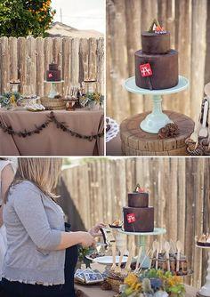 camping chic chocolate cake