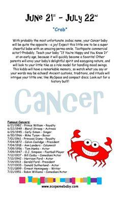 Cancer Baby Onesie Gift Box Horoscope