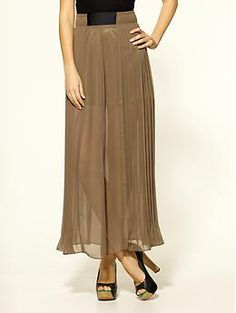 Plastic Island Ophelia Pleated Maxi Skirt | Piperlime