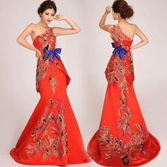Chinese Traditional Wedding Dress#Chipao.