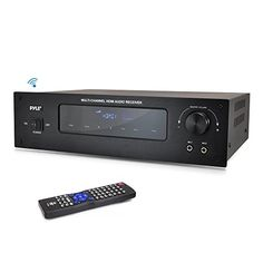 Wireless Bluetooth Power Amplifier System - Channel Home Theater Surround Sound Audio Stereo Receiver Box w/HDMI, RCA, Headphone, Remote, for Subwoofer Speaker - Pyle Home Theater Amplifier, Subwoofer Speaker, Speakers, Home Theater Surround Sound, Av Receiver, Amazon Sale, 4 Channel, Bluetooth, Remote