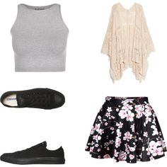 Summer/Spring love by xleahnoelx on Polyvore featuring Free People, MANGO and Converse