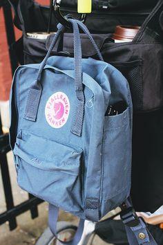 Fjallraven Kanken mini backpack as a diaper bag.