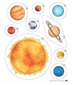 planet cutouts free printable worksheets pinterest planets