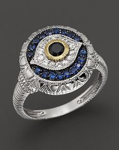 I should get this and give deserving people the stink eye with it! - Judith Ripka Sterling Silver Evil Eye Ring | Bloomingdale's