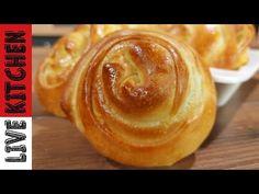 Φτιάξτε ΣΤΡΥΦΤΟΠΙΤΑΡΙΑ με τυρί σαν Επαγγελματίες - Είναι τραγανά απο έξω και αφράτα απο μέσα! - YouTube Kitchen Living, Doughnut, Peanut Butter, Snacks, Breakfast, Desserts, Recipes, Food, Youtube