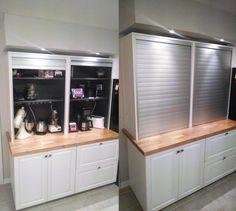 appliance garage ikea hack kitchen galant rollfront cabinet