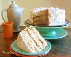 Grandma's Buttermilk Yellow Cake recipe from Grandma's Cookbook of kitchen-tested recipes.