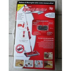 SCOPA RUOTANTE G3 ROSSA - Elettrica senza fili e ricaricabile scopa rotante - VISTO IN #TV #Casa #Cucina