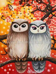 Risultati immagini per owls painting