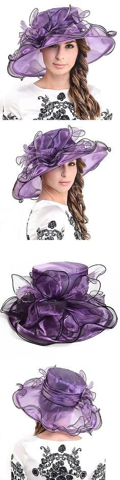 Womens Formal Hats 131476  Fascinators Kentucky Derby Church Veil Dress  Large Cocktail Party Hat56- 98e43885044c
