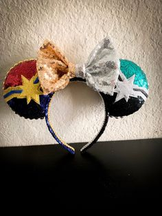 Your place to buy and sell all things handmade Diy Disney Ears, Disney Mickey Ears, Disney Bows, Disney Diy, Disney Crafts, Disney Outfits, Disney Cruise, Disney Parks, Mickey Mouse