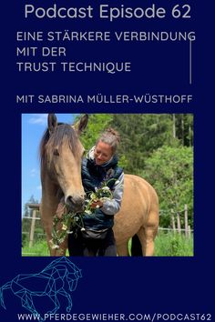 """Pferde Podcast - In dieser Episode des Pferdegwieher Podcasts erklärt Sabrina Müller-Wüsthoff wie man mithilfe der Trust-Technique eine stärkere Verbindung zum Pferd aufbauen kann. Ihr Motto lautet """"Vom Kopf ins Herz"""". Die Trust-Technique eignet sich für alle Pferde, aber gerade """"Problemepferde"""" oder traumatisierte Pferd können von der Methode profitieren. #trusttechnique #sabrinaloveshorses #pferdegewieher #problempferd Trust, Stark, Motto, Horses, Animals, Horse Feed, Social Networks, Horseback Riding, Heart"""