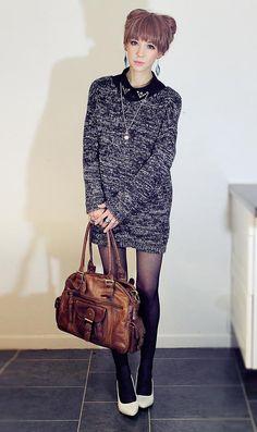 Shop this look on Kaleidoscope (sweater, pumps, purse)  http://kalei.do/WXE8DXuz7suq8u0x