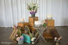 Jamie & Gerhardt's Whimsical Vintage Wedding: Cake Setup