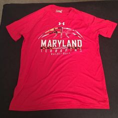 NWOT under Armour Maryland dry fit shirt No tags but never worn. Mens small Under Armour Tops Tees - Short Sleeve