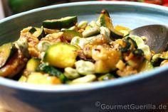Salat von Dicken Bohnen und Zucchini  GourmetGuerilla.de