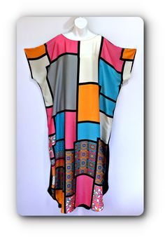 """Hand made ,one only """"Patchwork"""" Silk caftan dress by AlexandriaHall01 on Etsy"""