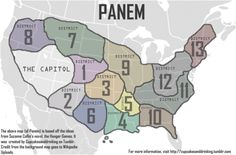 This is Panem. Panem is the country were it all happens. This country has 13 districts and 1 capital Hunger Games Map, Hunger Games Crafts, Hunger Games Fandom, Hunger Games Catching Fire, Hunger Games Trilogy, Districts Of Panem, Hunger Games Districts, Reading Projects, Book Projects
