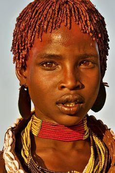 Hamar Girl - Ethiopiaاز شما می خواهم به دعا