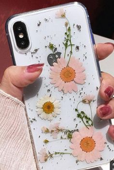 Luxe Pressed Flower Protective Phone Cases For iPhone XS & i.- Luxe Pressed Flower Protective Phone Cases For iPhone XS & Pink Pressed Flower iPhone 6 Plus, iPhone 7 Plus, iPhone 8 Plus & iPhone X Protective Case For cute girls - Diy Iphone Case, Iphone Phone Cases, Iphone Printer, Pink Iphone, Iphone App, Iphone Ringtone, Iphone Cases For Girls, Diy Case, Iphone Charger
