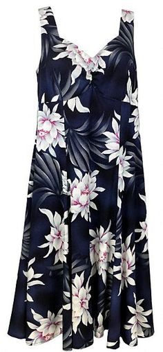 08dce5e0511 Two Palms H-Strap Dress Night Blooming Black. Two Palms Hawaiian Wear Made  in Hawaii ...
