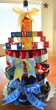 Daddy cake, co-ed baby shower idea for the dad!