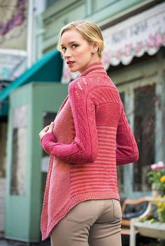 I love this Multi-Directional Cardigan pattern by Veera Välimäki. Be perfect knitted in Blacker Swan DK