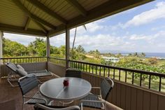 Dine in your own lanai with awesome views!