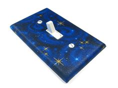 Dark Blue Stargazer Light Switch Cover Galaxy Star by ModernSwitch, $6.00