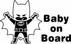 BABY ON BOARD CAPE BATMAN Decal SUPERHERO sticker Car Window Sticker #Walls