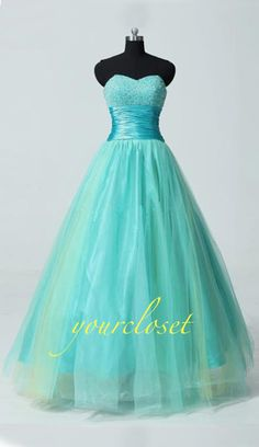 Wedding dress in #turquoise