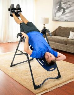 Easily adjustable for your body type, comfortable to use and a breeze to fold and store, a Teeter inversion table fits into your life as perfectly as it fits your body. In just a few minutes a day, you can achieve a natural stretch to help improve the health of your spine and joints, increase flexibility, and build strength with inverted exercises.