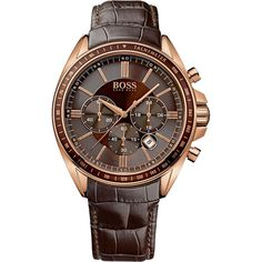 Hugo Boss Gents Watch Chronograph XL Leather 1513093 Quartz