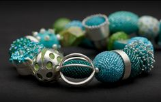 ulli kaiser's dramatic beaded and silver jewelry | Daily Art Muse