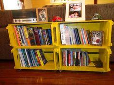 estante para livros feita com caixotes - Pesquisa Google