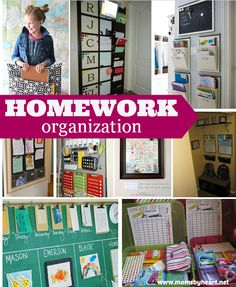 Homework Organization Ideas - momsbyheart.net