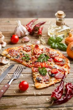 Delicious italian pizza by Grafvision photography on Creative Market