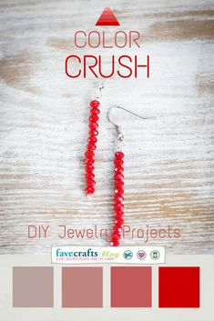 Color Crush Red: 5 DIY Jewelry Projects