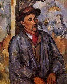 Peasant in a Blue Smock Paul Cézanne - circa 1892-1897