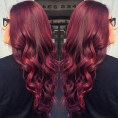 Red violet fall hair color
