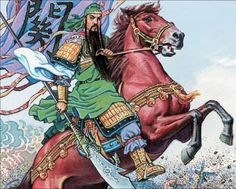 Kuan Ti is the Chinese warrior god who acts to prevent war. He's a prophet who predicts the future, and he protects people from lower spirits.