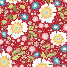 Fabric... Apple of My Eye Main on Red by Riley Blake Designs